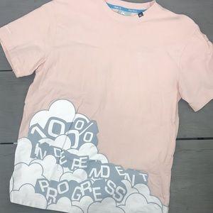 King-apparel pink men's t-shirt independent saying print cloud logo size xl